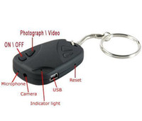 Wholesale Spy keycahin mini SPY CAR KEY HIDDEN CAMERA KeyChain Digital CAM Chain DV DVR WebCam Camcorder Video Recorder with retail box