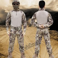 battle frog - Quality CS Tactical jacket set paintball battle frog combat uniform tactical pant with knee pads camouflage hunting clothes