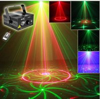 Wholesale Lens Patterns Club Xmas RG Laser BLUE LED Stage Lighting DJ Home Party mw show Professional Projector Light Disco