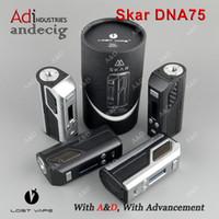 Wholesale Authentic Lost Vape Lostvape Skar DNA75 TC BOX MOD Evolv DNA Chip FOR Limitelss RDTA PLUS Hcigar Maze RDA Wotofo Serpent Mini