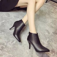 basic boots - BASIC EDITIONS Women Boots Genuine Leather Ankle Boots For Women Heel Shoes Woman Ankle Boots Winter Boots B