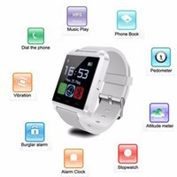 Wholesale Smartwatch Bluetooth Smart Watch U8 WristWatch digital sport watches for IOS Android Samsung phone Wearable Electronic Device