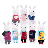 Wholesale 35cm Genuine Metoo Toys children Tiramisu Rabbits Cute Stuffed cartoon Animals Design Plush Toy Doll Birthday Gifts For Girls