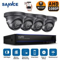 al por mayor la visión de la cámara del cctv 8ch-SANNCE 8CH 2.0MP 1080P HD DVR al aire libre de visión nocturna CCTV sistema de cámaras de seguridad