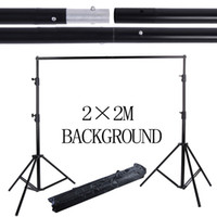 Équipement de sac Prix-Équipement de photographie professionnel 2 * 2M Aluminium Background Stand Backdrops Support System studio avec sac de transport pour photo