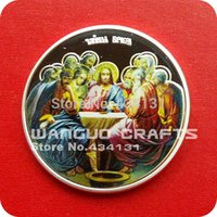 art last supper - 5 Niue icon The Last Supper oz plated Silver Jesus Souvenir Art coins VERY RARE and LIMITED