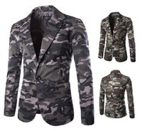 Wholesale Coat Army Fashion For Men - men suits, fashion suit ,blazer jacket men ,military camouflage blazers for men,slim fit casual cheap men's jacket coat