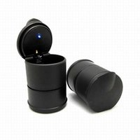 Wholesale pc LED Portable Car Truck Auto Office Cigarette Ashtray Holder Cup Black quality first