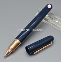 Wholesale 2016 new style m series mount blue resin Roller Ball Pen Magnetic closing with alignment of cap to barrel brand Writing ball pen
