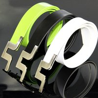Wholesale Brand New JL fashionable sport belts high quality Cowskin Leather Golf belts black white colors in choice casual belts