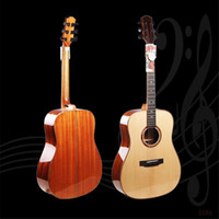 Wholesale 41 inch Matte Acoustic Guitar for Adults High end Single Folk Spruce Veneer Mahogany Strings Guitar for Beginners