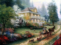 apple hill - New Arrival Landscape Thomas Kinkade Sunday At Apple Hill Oil Painting On Canvas Art Pictures For Home Decor