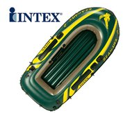 Wholesale Intex Seahawk inflatable boat person fishing boat cm a pair of oars hand pump included