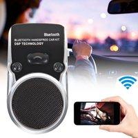 Wholesale Car Kit Speaker Solar Powered Bluetooth Handsfree Speakerphone For Samsung Android Phone iPhone