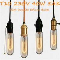 antique ship lamps - Antique Vintage Retro Edison Light Bulbs E27 T10 AK T45 AK V W Light Tungsten Bulbs for Chandelies Pendant Lamp