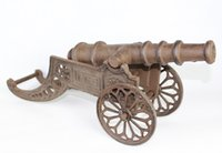 antique cannon - Replica Rustic Cast Iron Cannon Statuette Miniature Figurine Antique Model Retro Home Bar Pub Club Table Decorative Free Ship