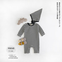 baby one piece pajamas - Infant Romper striped Baby Girls boys long sleeved pajamas climbing Clothes Baby One piece Rompers Jumpsuit tracksuits