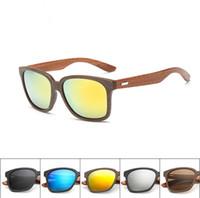 Wholesale BFFA39 New Fashion Womens Men Wood Sunglasses Vintage Retro Shades Designer Outdoor Glasses Full Frame Eyewear