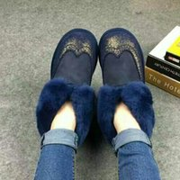 b development - 2016 women new development of the lazy sheep fur boots real leather and real wool snow boots Factory price