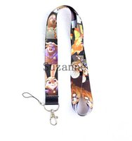 Wholesale 100Pcs Mixed cartoon Zootopia Neck Strap Lanyard For ID Badge Cell Phone Key chain Party Gifts