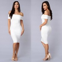 Wholesale Women Sexy Club Wedding Carpet Dress Midi Pencil Bodycon Bandage Long Sleeve V Neck Plus Size Ladies Clothing Vestidos De Festa M0304