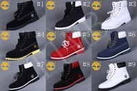 al por mayor hombres botines-Hombre 7 Ojetes Timberland 6-Inch Premium Tobillo Botas Timberland trabajo de senderismo zapatos Invierno nieve botas para hombres Multi colores Tamaño US 8-13