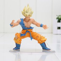 Red bandai dragonball z - 10cm Japanese Bandai Dragonball Dragon ball Z Kai Styling Figurine Super Saiyan Goku Gokou PVC Action Figure Collection Model Toy