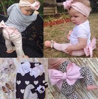 Wholesale 2016 ins Spring Fashion Boy Girl Pants Children Kids cotton leopard love heart geometric print bow harem pants Children s Casual Pants
