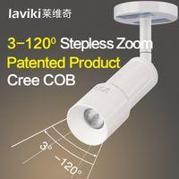 Wholesale Laviki LWQ007 LED CREE Chip W W K4000K5000K Zoomable Variable Focus Upright Tube Flat Cap Track Light