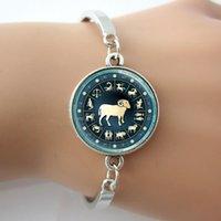 aries zodiac symbols - Zodiac Jewelry Bracelets Astrological Symbol Ram Aug Birthday Astrology Art Charm bangles Aries Capricorn Leo Libra Virgo