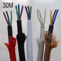 ac cord wiring - Cloth Copper Electric Cord Cable Wire M mm For Vintage Style Edison Lamp AC V