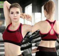 Wholesale Yoga Sports Bra Seamless Sport Bra Women Padded Sports Yoga Bra Yoga Racerback Sports Bra Tennis Vest Underwear