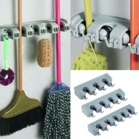 Wholesale Popular Kitchen Wall Mounted Hanger Storage Rack Position Kitchen Mop Brush Broom Organizer Holder Tool