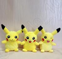 animal cuddly toys - 18cm Pikachu Plush Soft Toy Poke Stuffed Animal Cuddly Doll Cartoon Cute Anime Figure Smiling Cute Kids Gift OOA645