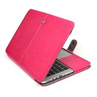 Wholesale Macbook one piece PU leather protector case with soft and slippery for Apple computer model Retina Pro Air