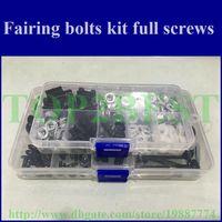 Wholesale Cheap Motorcycle Fairing screws bolt kit for YAMAHA YZFR1 YZF R1 black aftermarket fairings bolts screw set parts