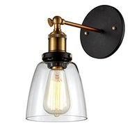 age energy - WinSoon Edison Simplicity Light Wall Mount Light Sconces Aged Steel Finish Glass Shade lighting lights the lamp