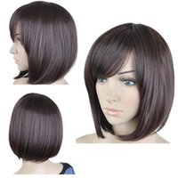 auburn hair pictures - 100 Brand New High Quality Fashion Picture Wig can hot dye gt gt Lady Fashion Short Brown Straight Women Bob Hair Full Wigs Wig Cosplay Party Wi