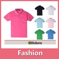argyle polo shirt - 2016 Summer Mens Polyester Polo Shirt men clothes Quick Dry Embroidery Fred Logo Casual Shirt LS Plus Size DHL Free