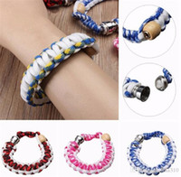 Wholesale Bracelet Smoking Pipe Hidden Smoking Pipes Wrist Hookah Tobacco Pipe Bracelet Handmade Wrist Smoking Pipe Assorted Colors Hidden Pipe AB20