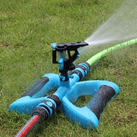 Wholesale Portable Automatic degrees Rotating Plant Watering Plastic Sprinkler Garden Irrigation with Base Water saving Design