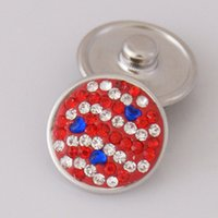 ai wave - Hot sale KB2402 AI Wave stripe rhinestone MM snap buttons for DIY ginger snap bracelets Accessories charm jewelry