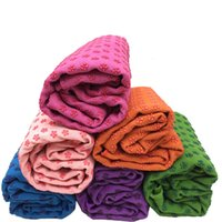 Wholesale Soft Travel Sport Fitness Exercise non slip Yoga Pilates Mat Cover Towel Blanket Sports Towel x63cm