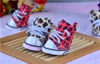 Wholesale The new pet shoes leopard slip waterproof dog shoes Chengdu factory stock Cheap shoes hot