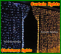best landscape lighting - 2016 best sale LED Curtain lights lantern shape RGB string light flash modes x3m lights many size waterproof landscape decoration