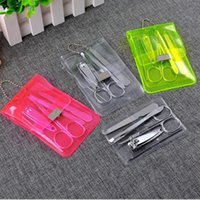 Wholesale Stainless Steel Nail Care Set Pedicure Scissors Tweezer Knife Ear Pick Utility Nail Clipper Kit Manicure Set