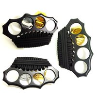 Wholesale Cord Grip Brass Knuckles Chrome Serial Edition Knuckle Dusters Brass Knuckles Weapon Survive Hammer Self Defense Finger Buckle