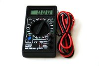 Wholesale Mini pocket digital multimeter multimeter battery voltage and current detector transistor measurement table
