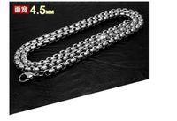 Wholesale 2016 new fashion L titanium steel interlocking chain necklace wide mm length50cm cm cm cm cm jewelry