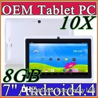 10X DHL 7 pouces Android4.4 Google 3000mAh Batterie Tablette PC WiFi Quad Core 1.5GHz 512 Mo 8 Go Q88 Allwinner A33 7